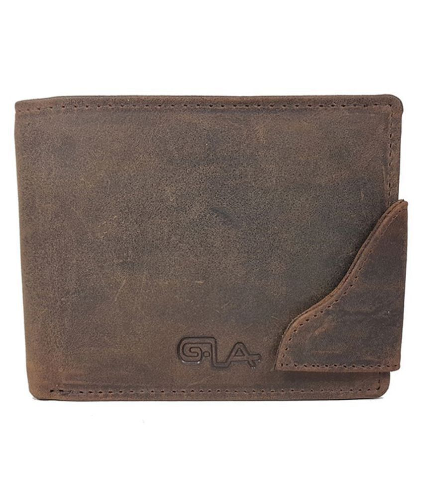 Goodwill Leather Art Leather Brown Fashion Regular Wallet