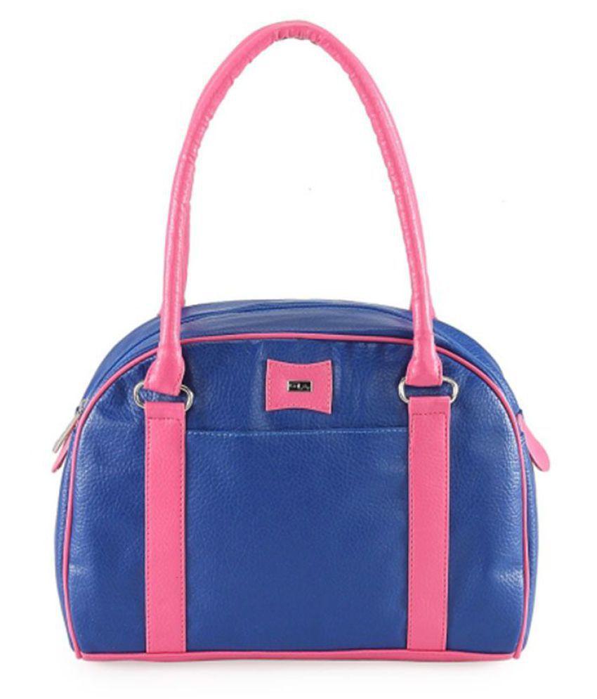 Goodwill Leather Art Blue Faux Leather Shoulder Bag