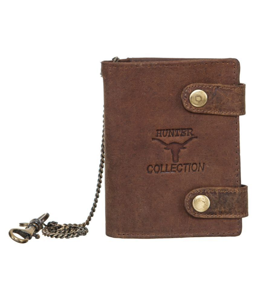 Goodwill Leather Art Leather Brown Fashion Long Wallet