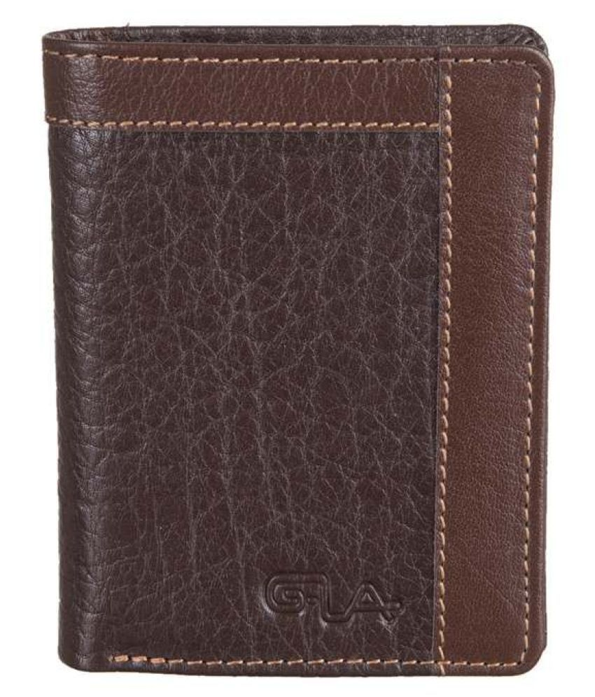Goodwill Leather Art Leather Brown Casual Long Wallet