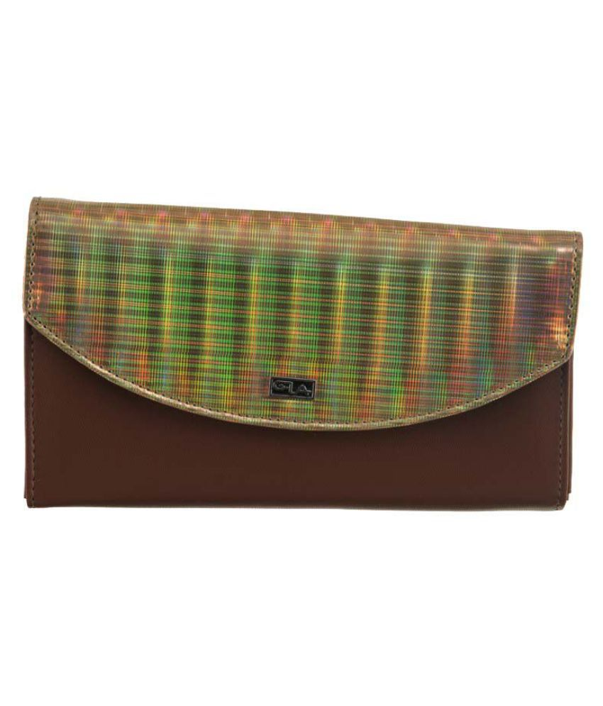 Goodwill Leather Art Multi Faux Leather Box Clutch