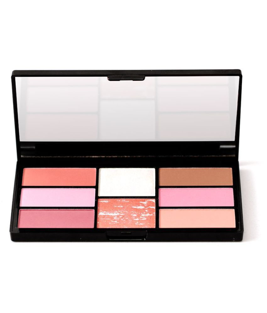 Swiss Beauty Pro Blush & Highlighter Palette (Shade-5), 15gm