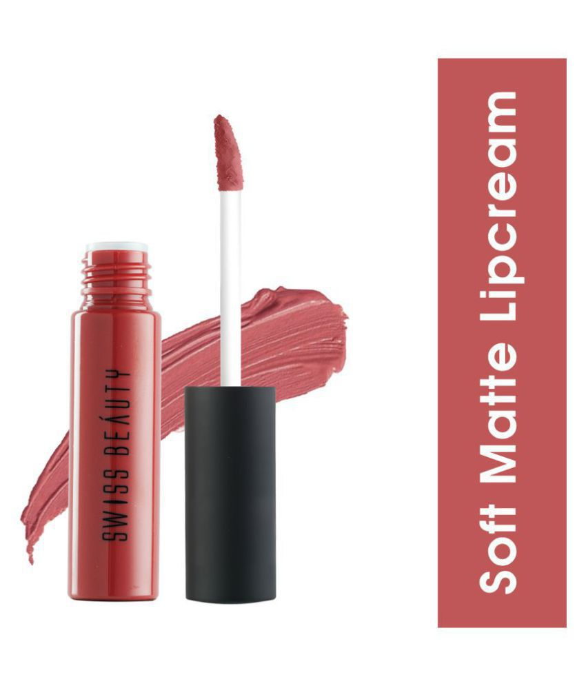 Swiss Beauty Lip Gloss Cream Shade-02 Ruby Pink 6 mL
