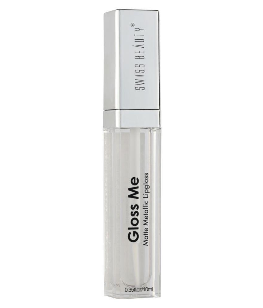 Swiss Beauty Matte Metallic Lip Gloss (Transparent), 6ml