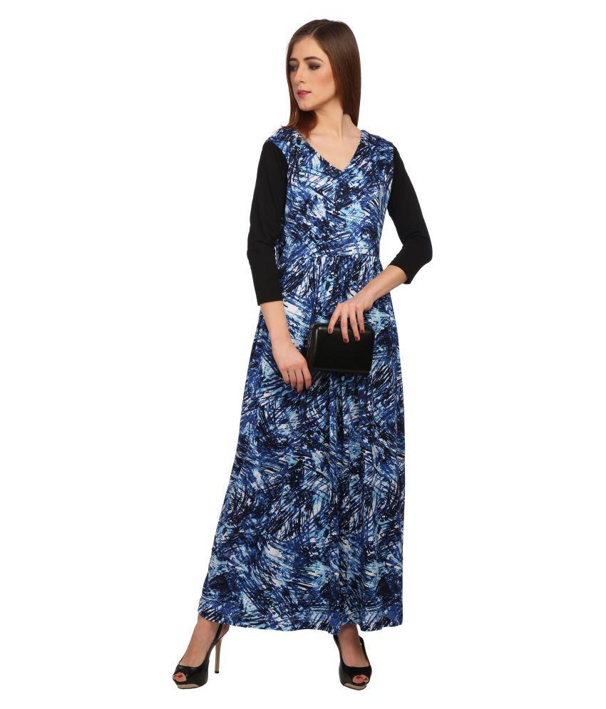 Veronique Polyester Multi Color A- line Dress