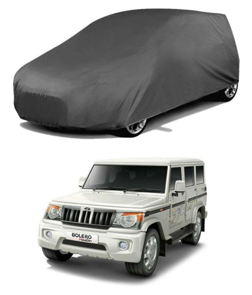 EKRS Dust-proof Car Body Covers For Mahindra BOLERO with out Mirror Pockets, Triple Stitching & Light Weight (Grey Color) Model 2019-20