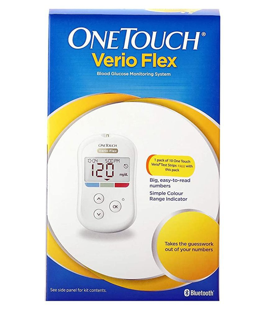 ONE TOUCH VERIO FLEX meter with 10 Free Strips 11/2021
