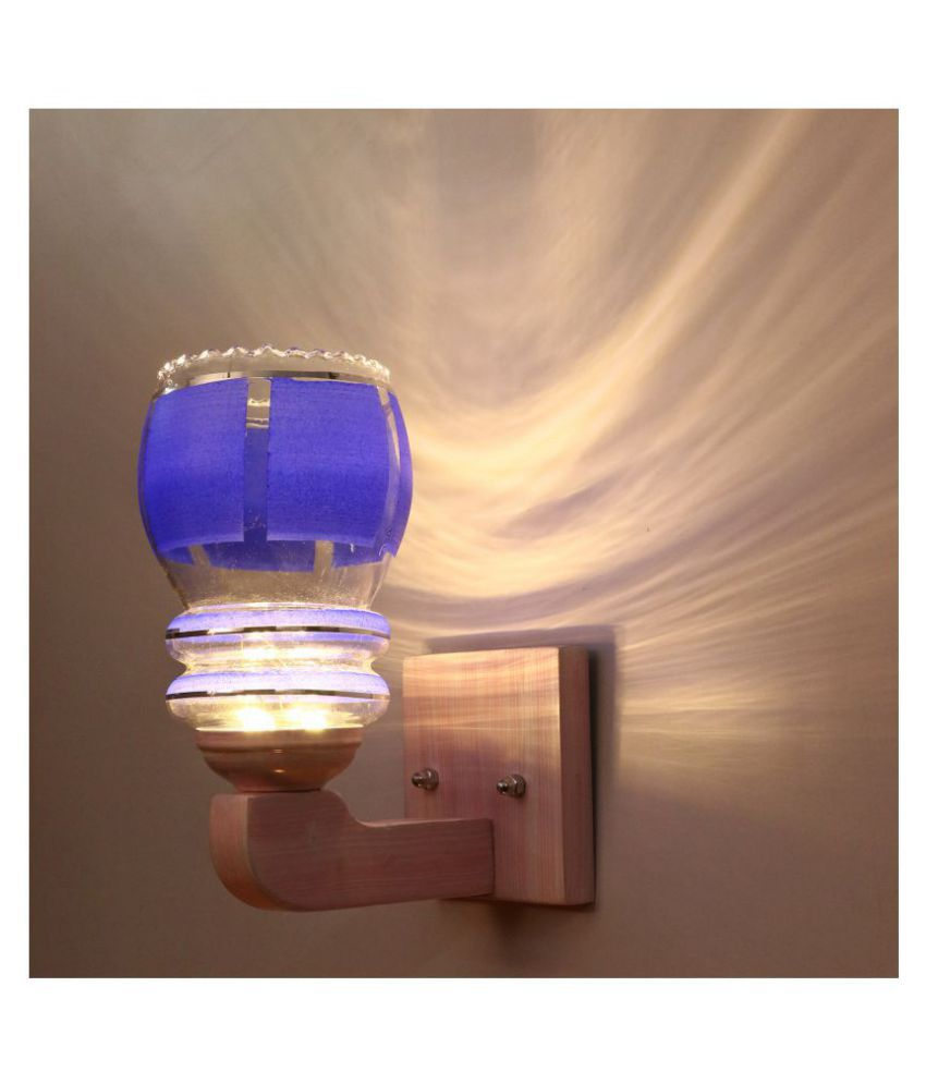 Somil Decorative Wall Lamp Light Glass Wall Light Blue - Pack of 1