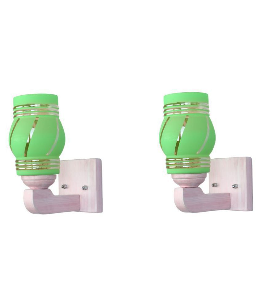 Somil Decorative Wall Lamp Light Glass Wall Light Green - Pack of 2