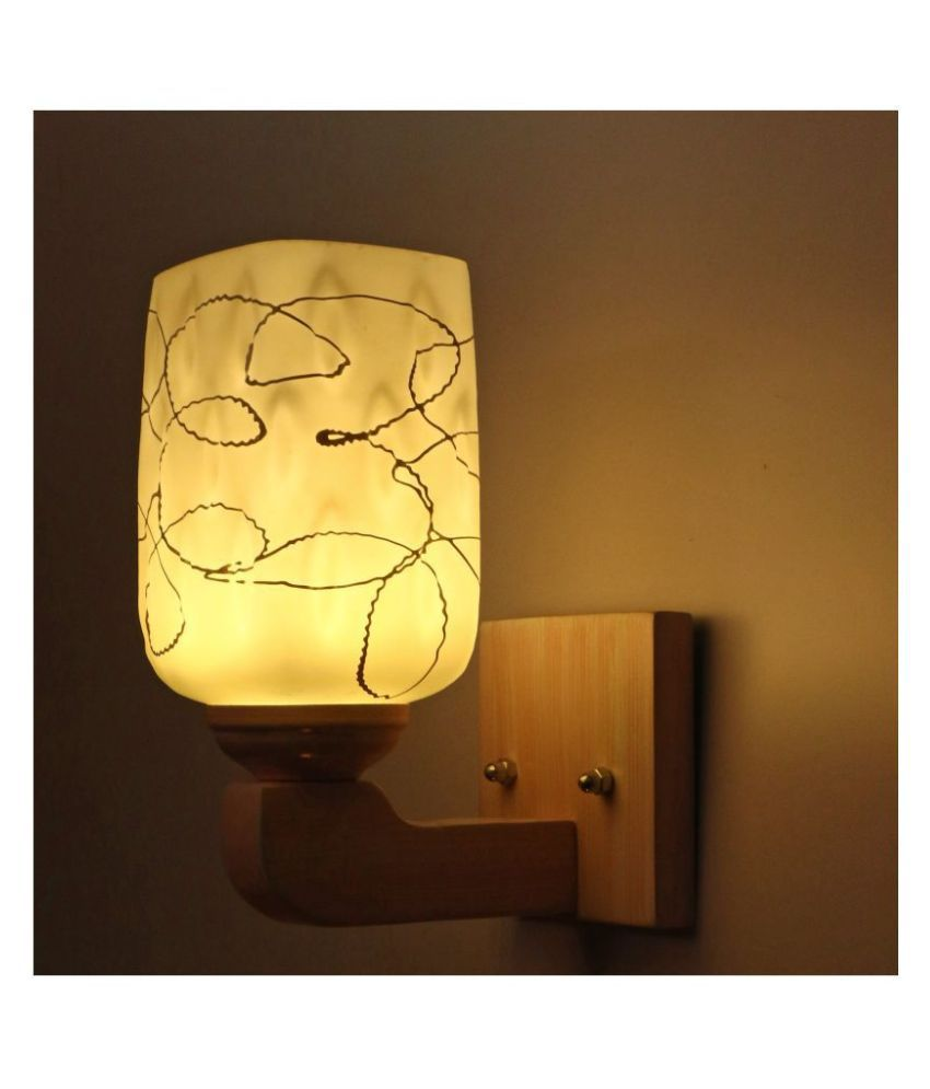 Somil Decorative Wall Lamp Light Glass Wall Light White - Pack of 1