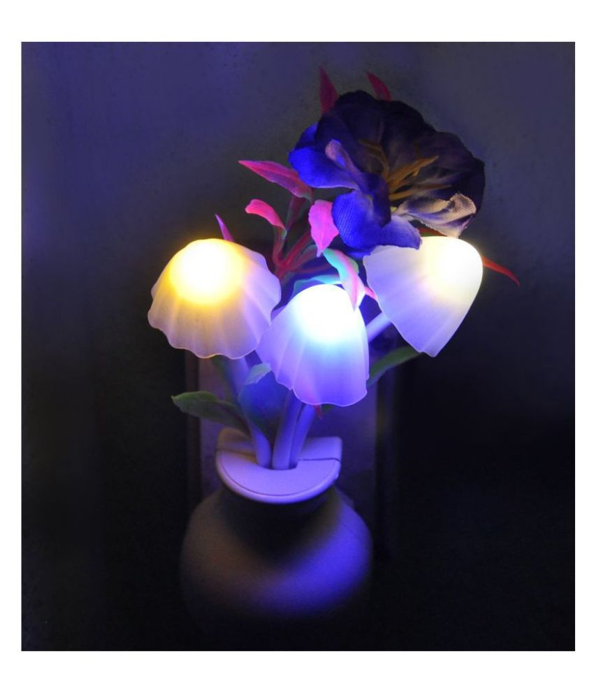 Gbuzz SMART FANCY MUSHROOM Light AUTOMATIC SENSOR LED COLOR CHANGING LED LIGHT NIGHT LAMP Night Lamp Assorted - Pack of 1