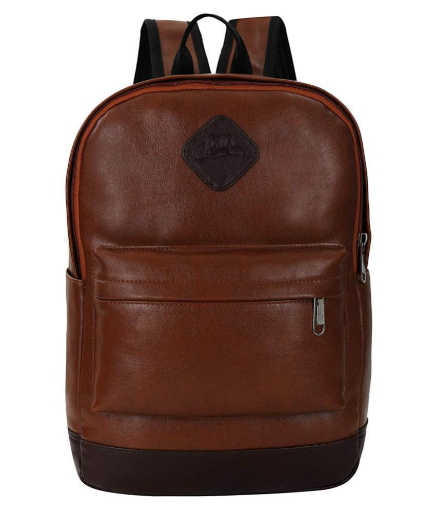 Leather World Tan Leather College Bag