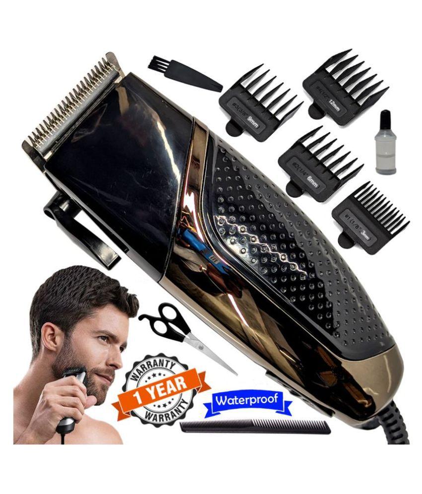 Men's Big Powerful Waterproof Corded 9W Beard Mustache Trimmer Hair Clipper Casual Gift Set
