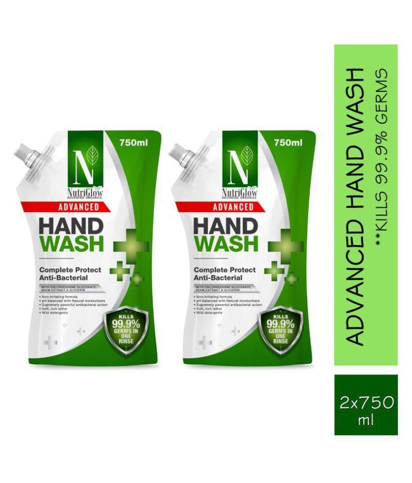 NutriGlow Advanced Organics Handwash 1500 mL Pack of 2