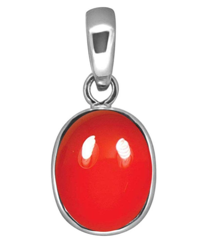 A1 Gems 7.25 Ratti 6.42 Carat A+ Quality Coral Moonga Gemstone Pendant for Women's and Men's