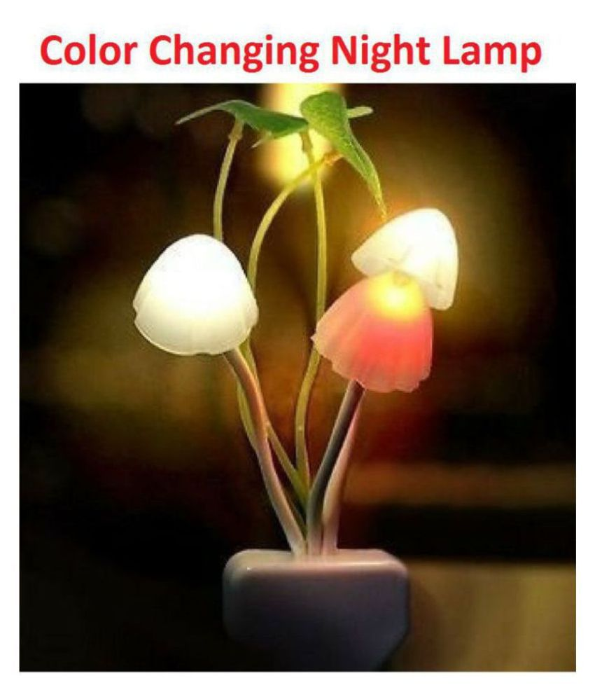 Gbuzz SMART FANCY MUSHROOM Light AUTOMATIC SENSOR LED COLOR CHANGING LED LIGHT NIGHT LAMP Night Lamp Assorted - Pack of 1