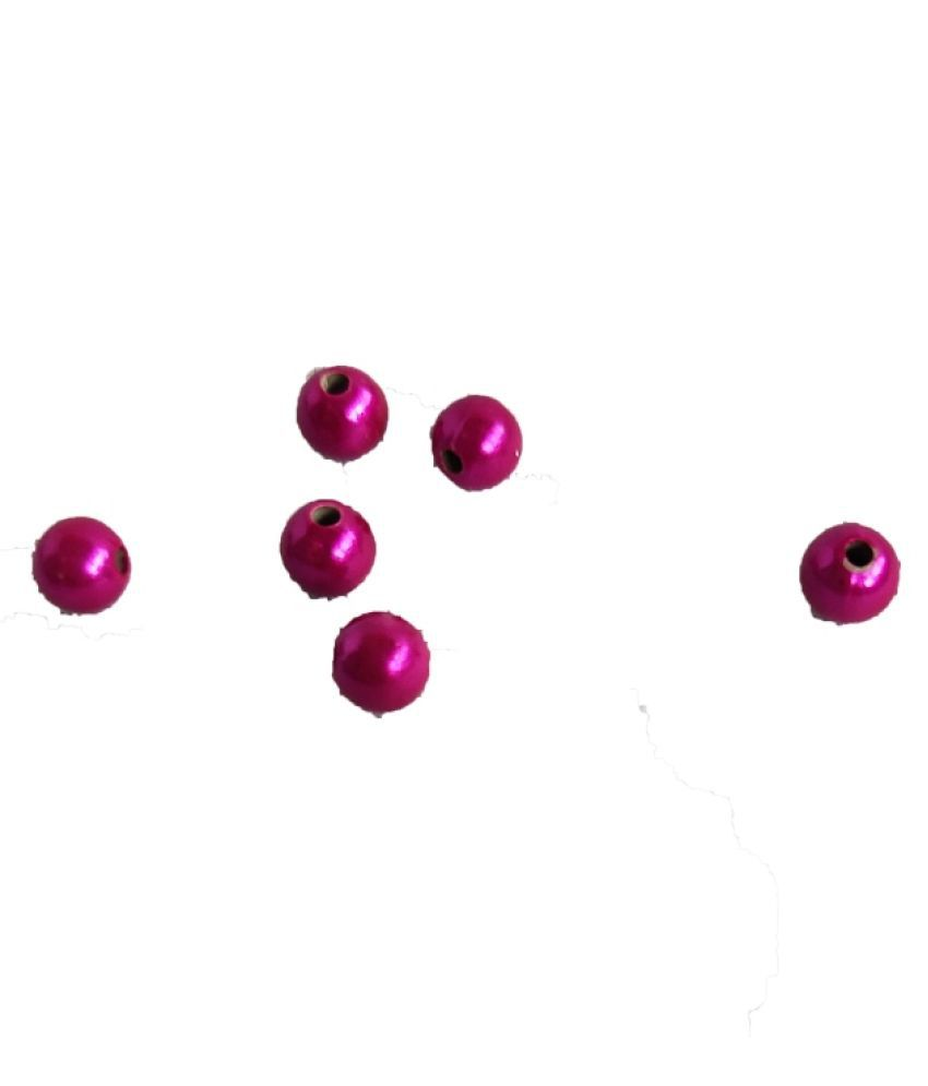 Helix 4mm 200pcs Round Dark Pink Beads for Embroidery & Decoration