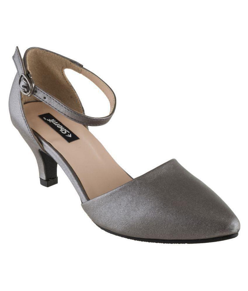 sherrif shoes Gray Kitten Heels
