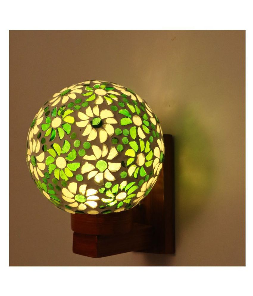 AFAST Decorative Wall Lamp Light Glass Wall Light Green - Pack of 1