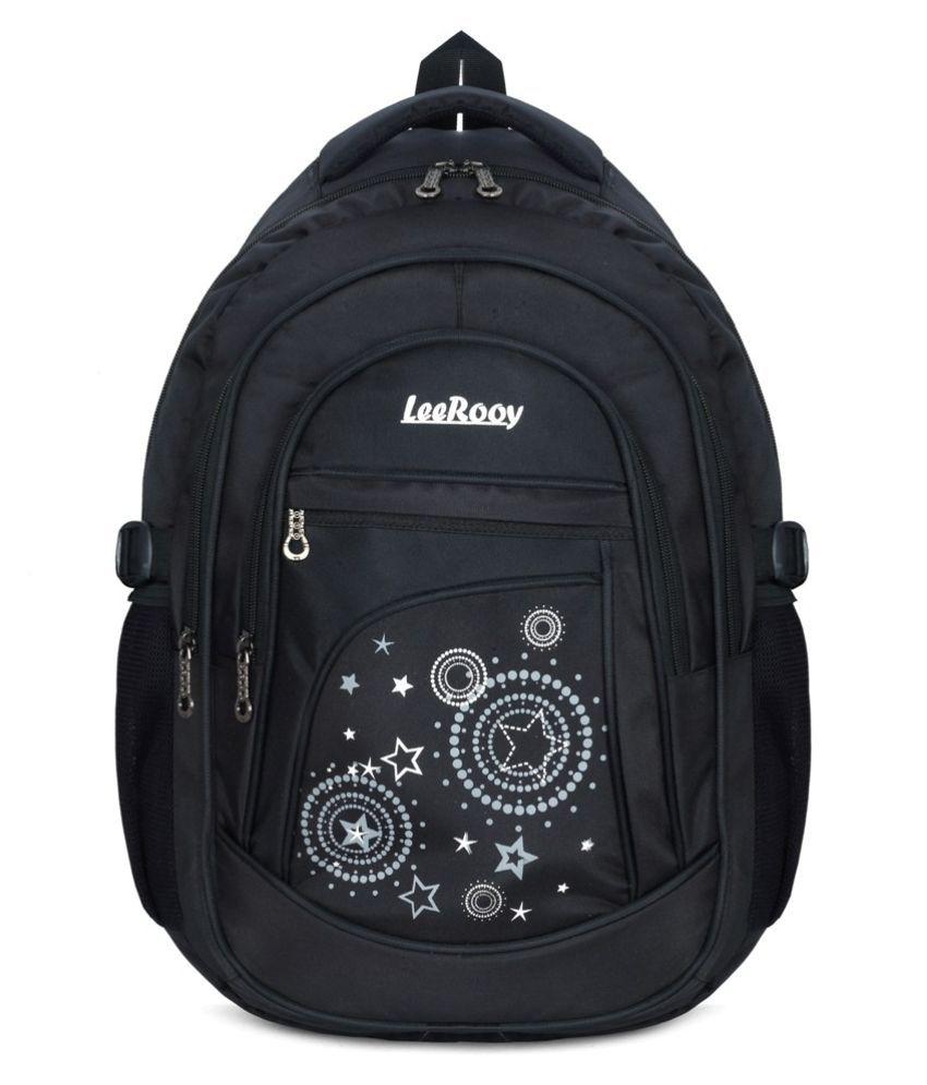 LeeRooy Black Backpack