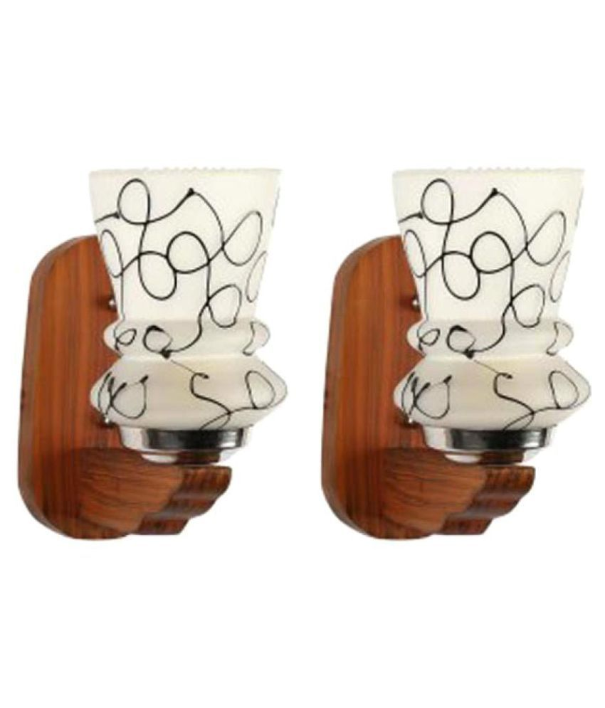 Somil Decorative Lamp Glass Wall Light White - Pack Of 2