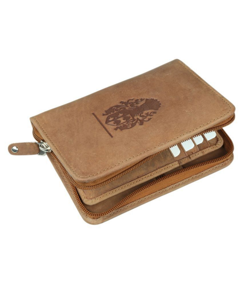 Style 98 Leather Tan Casual Short Wallet