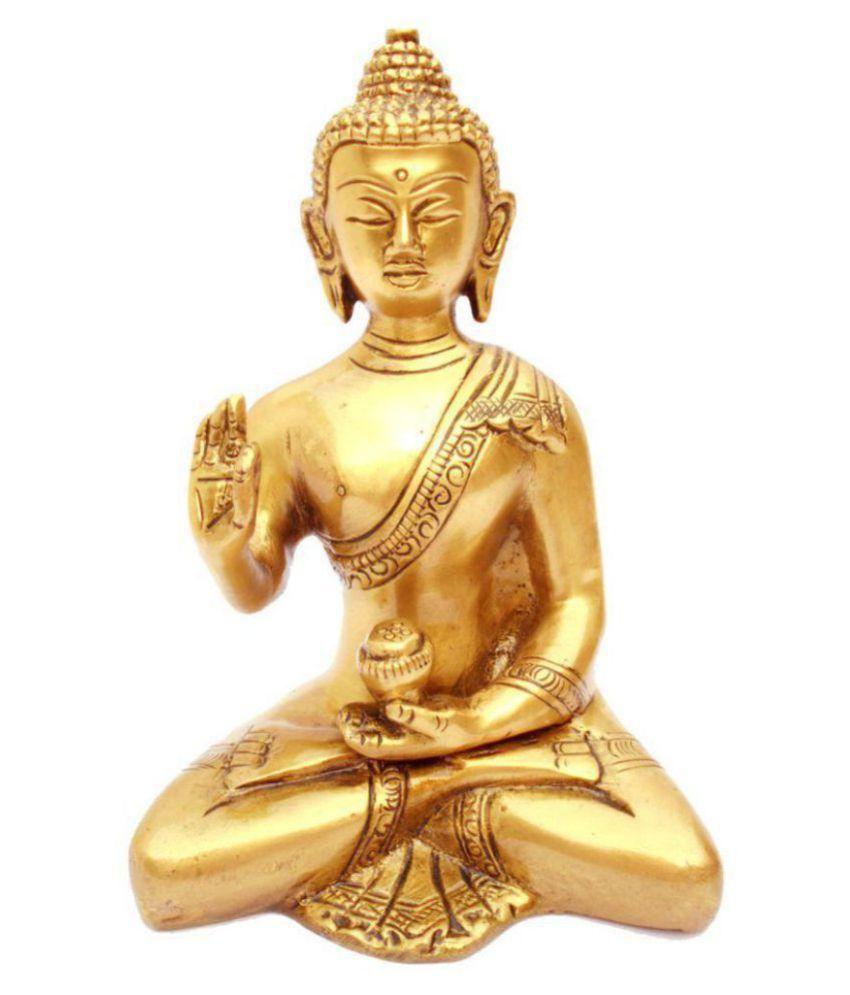 Susajjit Decor RELIGIOUS Brass Buddha Idol 15 x 10 cms Pack of 1