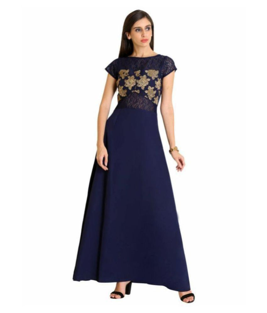 Raas Prêt Crepe Navy Fit And Flare Dress