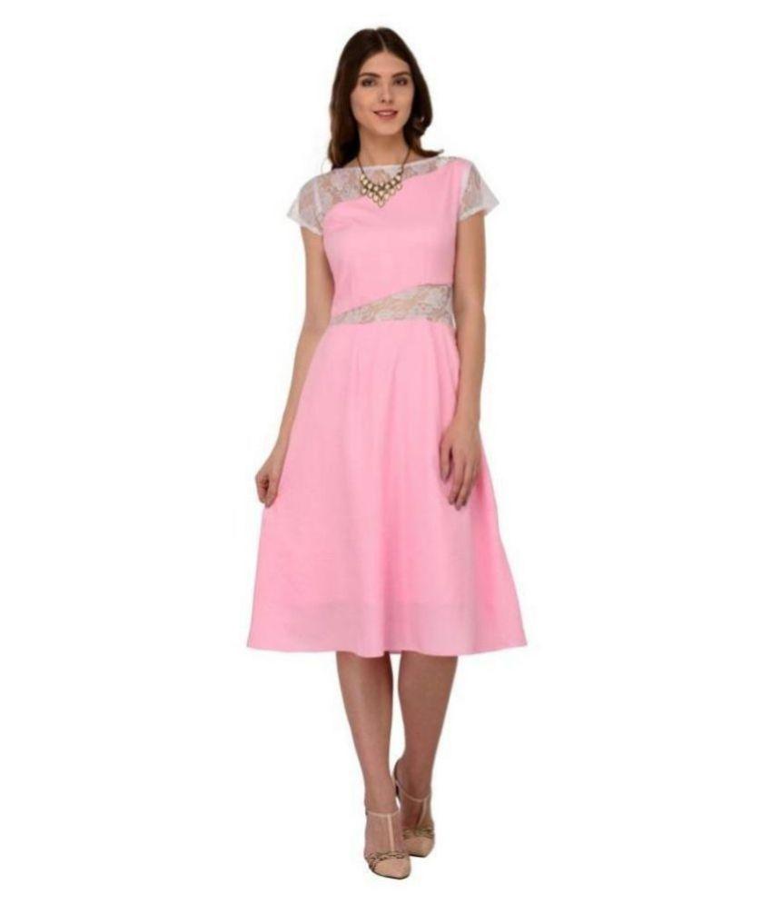 Raas Prêt Crepe Pink Skater Dress