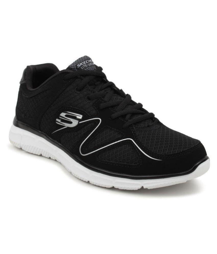 Skechers 58350-BKW Black Running Shoes