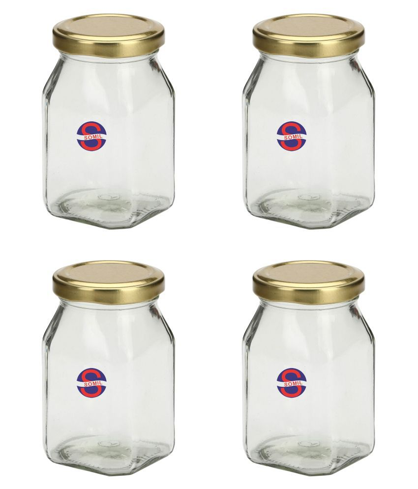 Somil Glass Oil Container/Dispenser Set of 4 300 mL