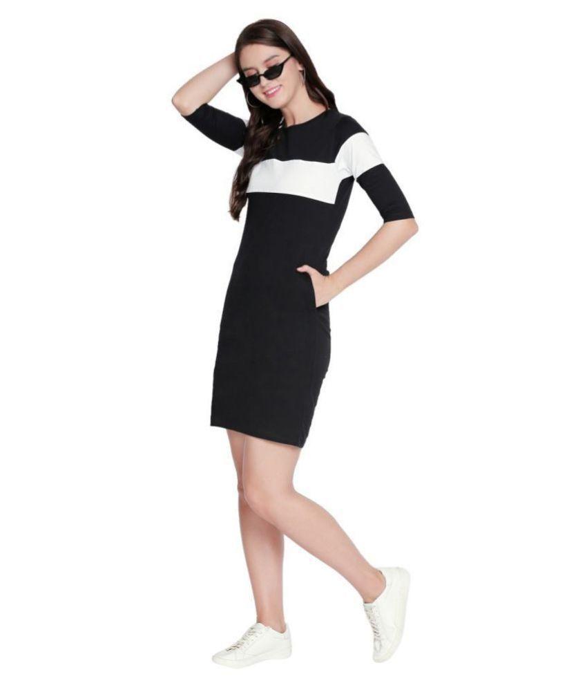 Jhankhi Cotton Black Shift Dress