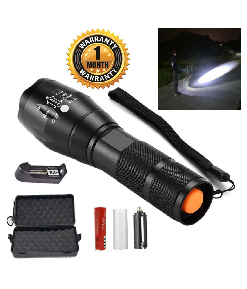 UC Rechargeable flashlight zoomable led torch 13W Flashlight Torch - Pack of 1