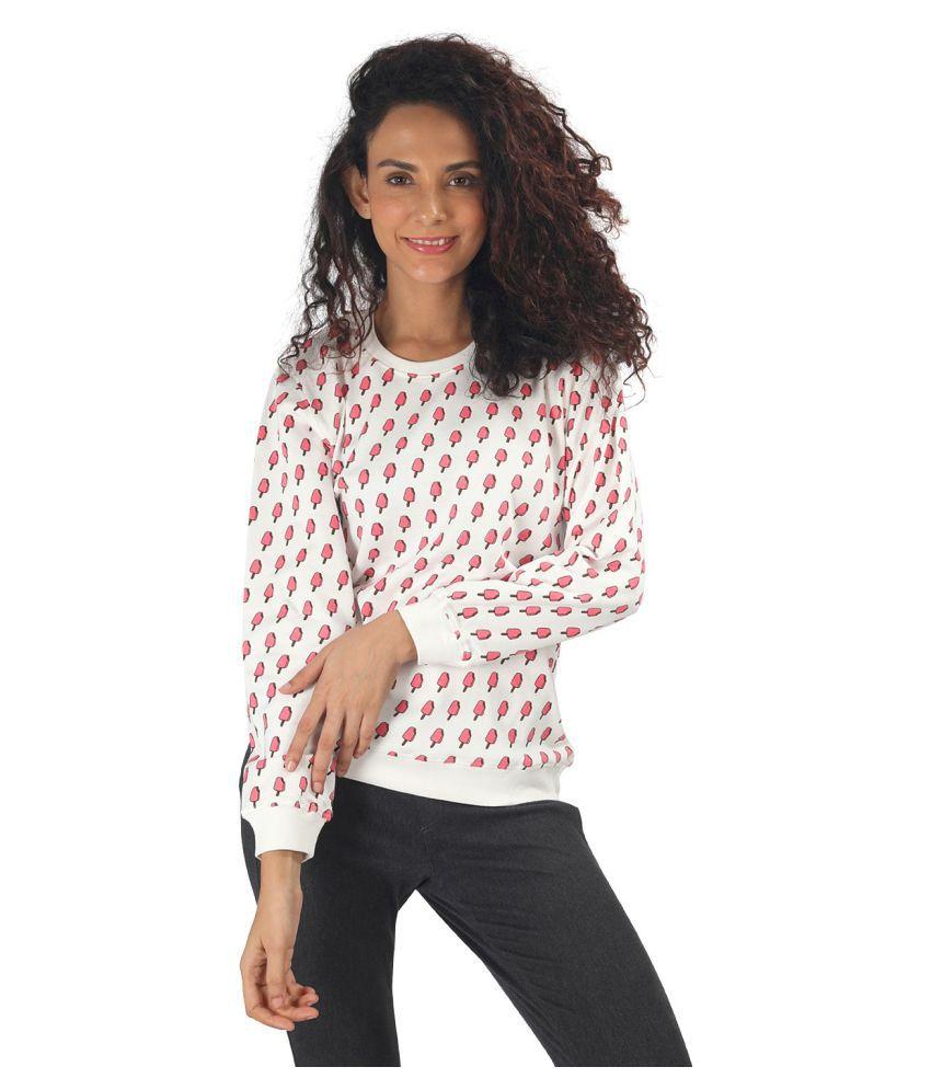 Nite Flite Cotton Multi Color Non Hooded Sweatshirt