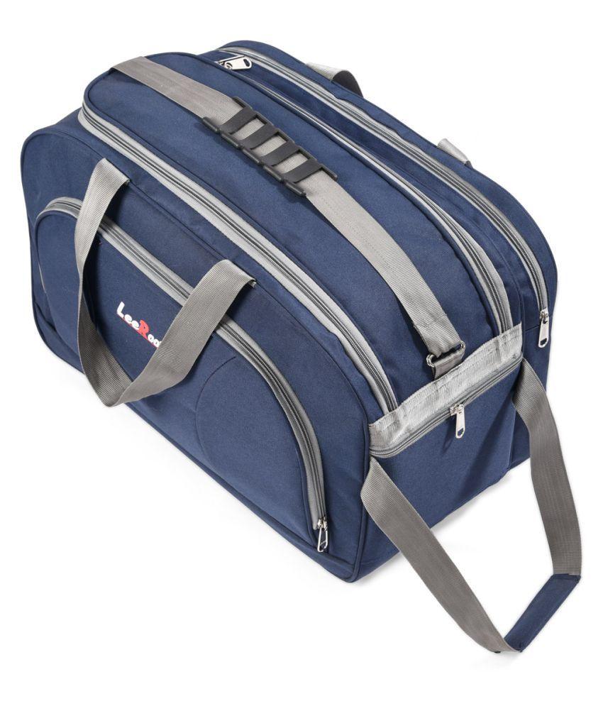 LeeRooy Blue Solid M Duffle Bag