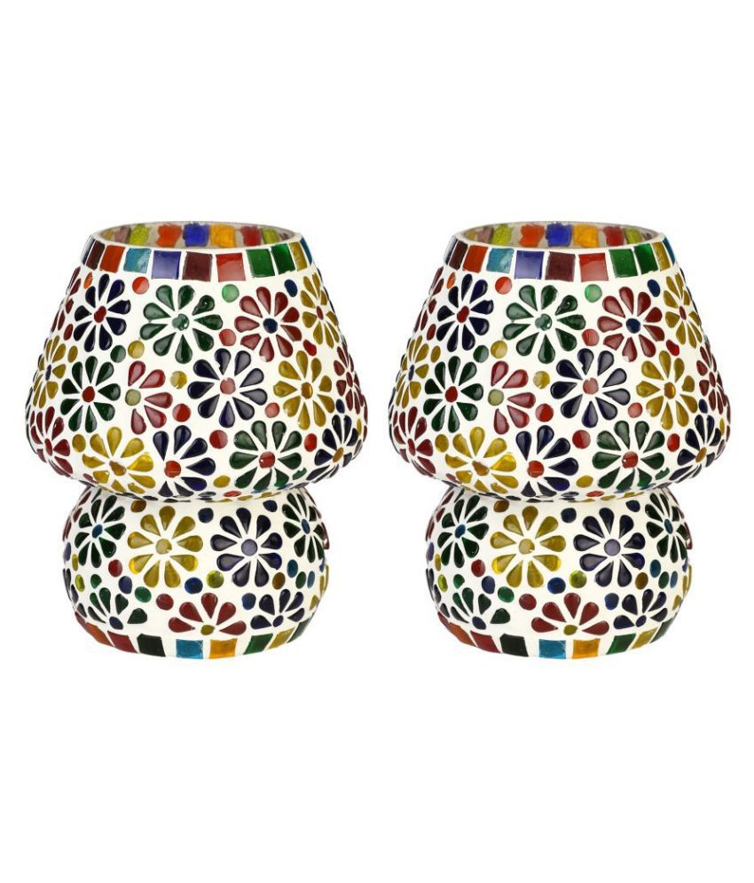 Somil Decorative Glass Table Lamp - Pack of 2