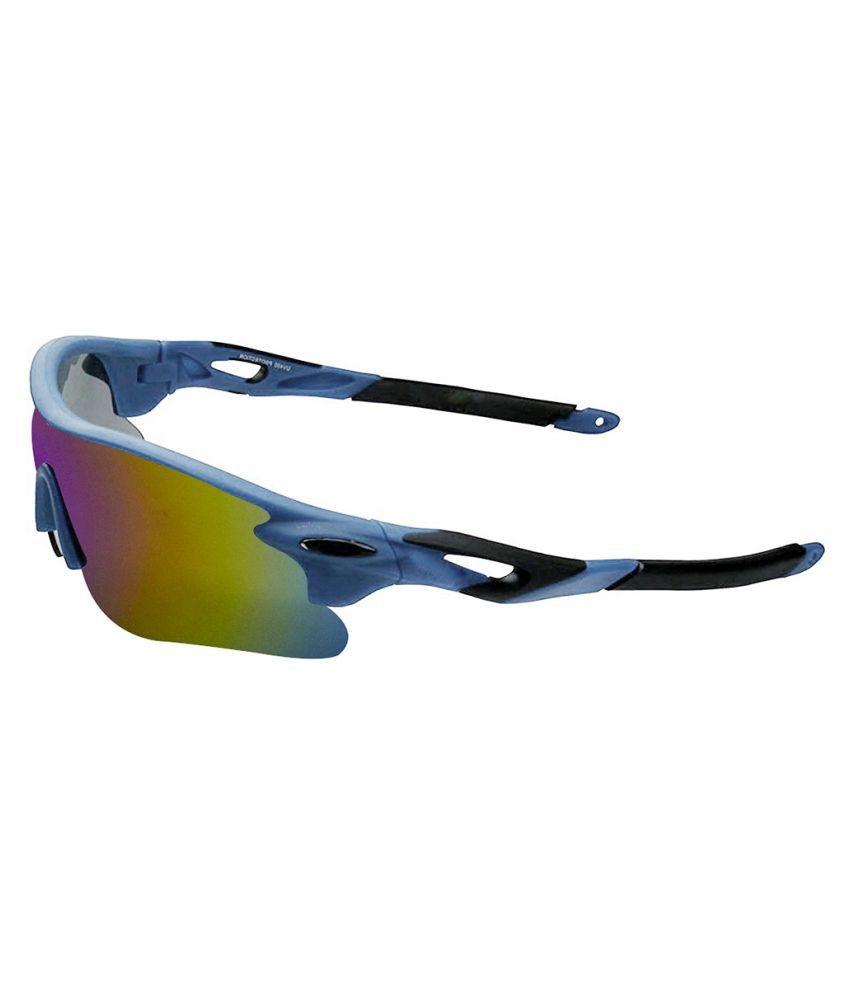 Peter Jones - Blue Wrap Around Sunglasses ( SPORTS M007BL )