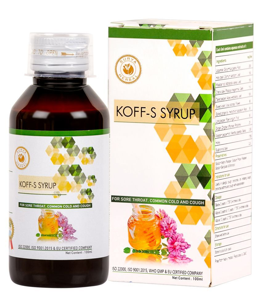 HerbRoot Koff-S Syrup Liquid 100 ml Pack of 3