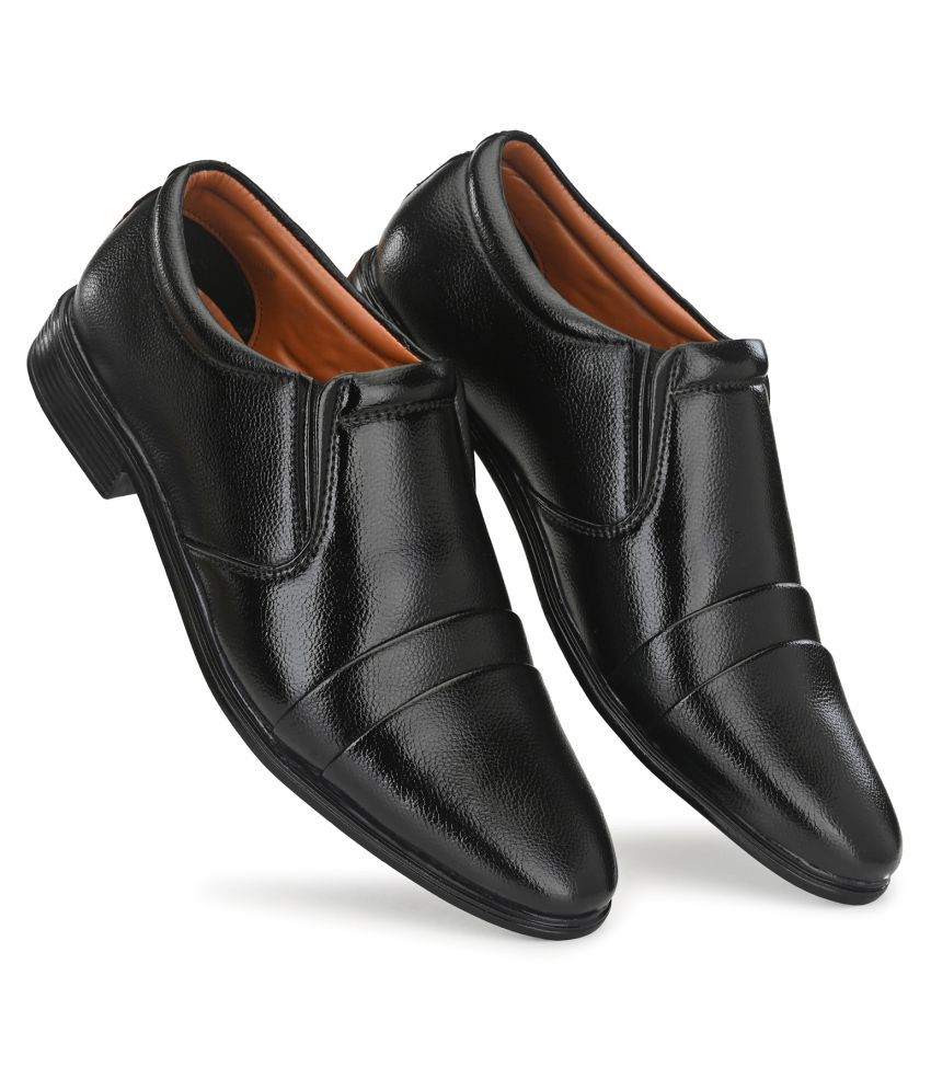 Prolific Non-Leather Black Formal Shoes