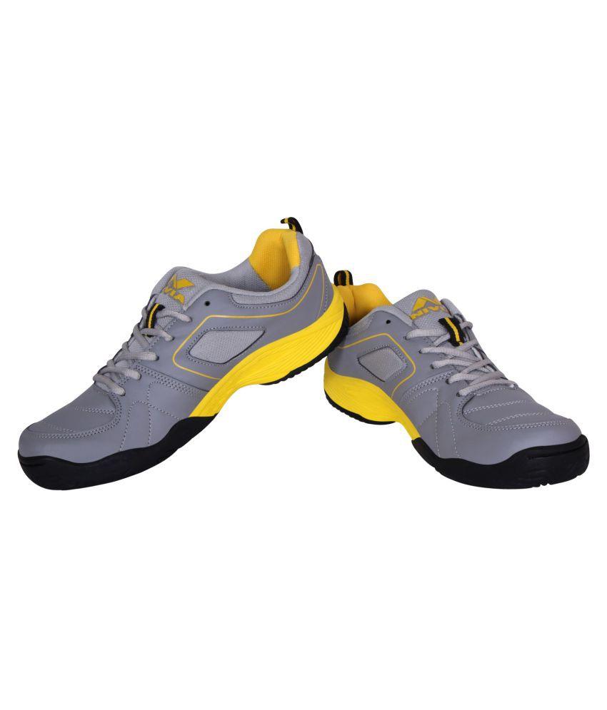 Nivia SMASHER TENNIS Gray Male Non-Marking Shoes