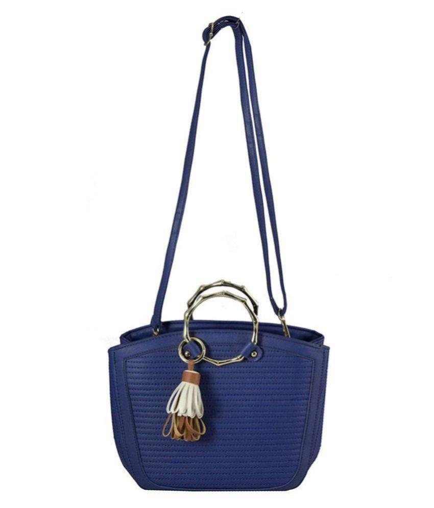 TAP FASHION Blue P.U. Sling Bag