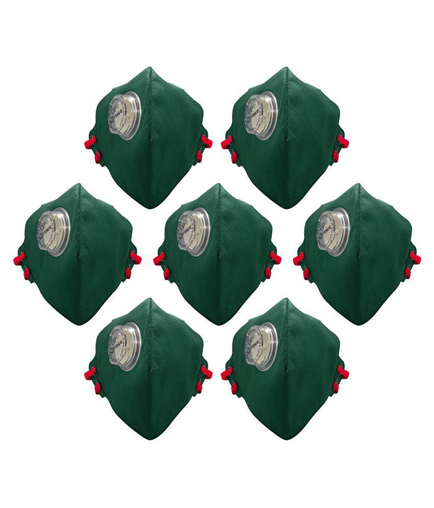 Venus V-414 Slov Single Valve Anti Pollution Dust Mask pack Of 7