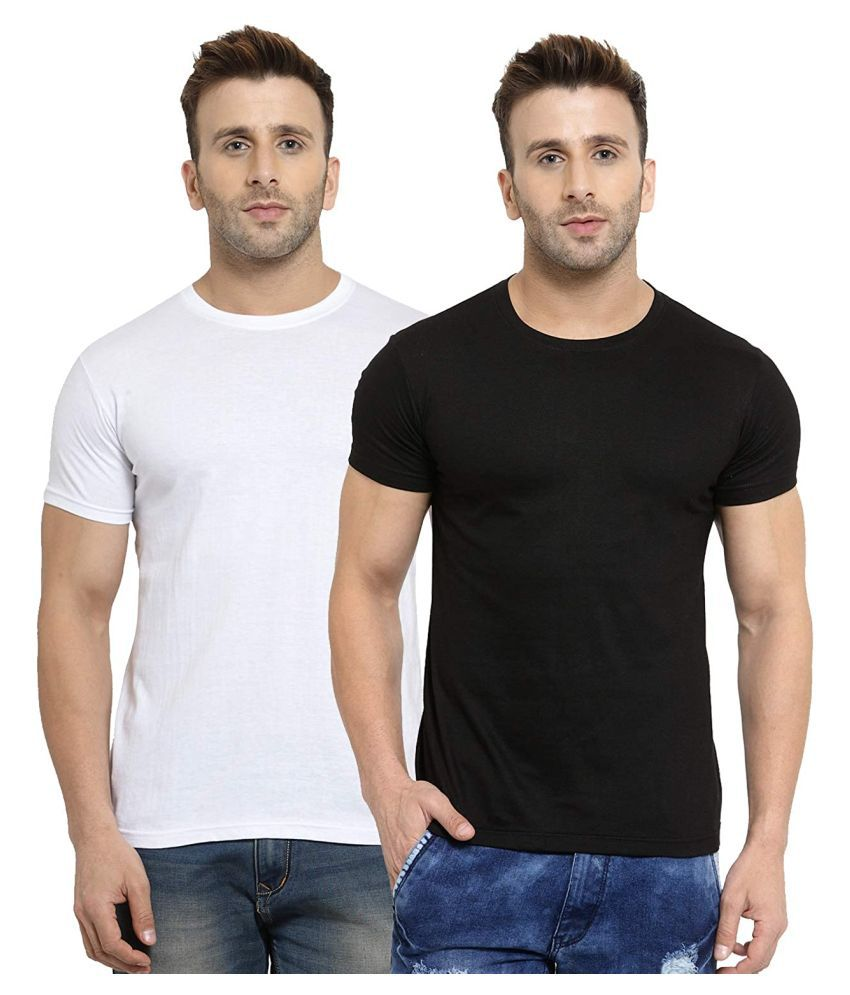 livasa 100 Percent Cotton White Solids T-Shirt