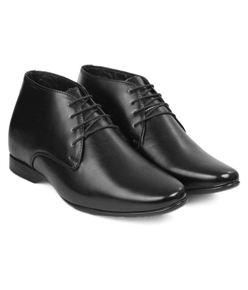 ZXYZO Derby Artificial Leather Black Formal Shoes