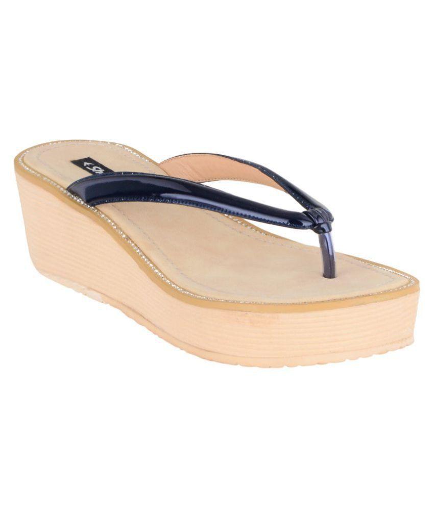 sherrif shoes Navy Slippers