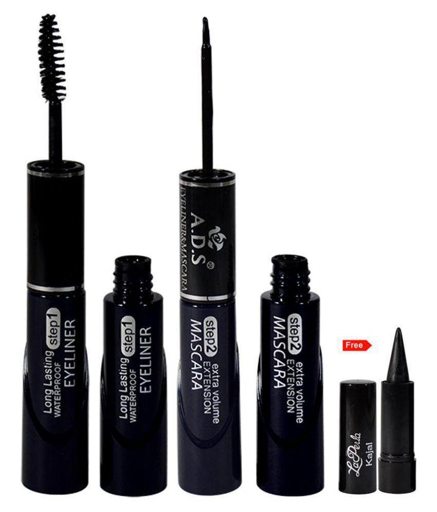 ADS 2IN1 Longer Waterproof  Liquid Eyeliner Black 20 g