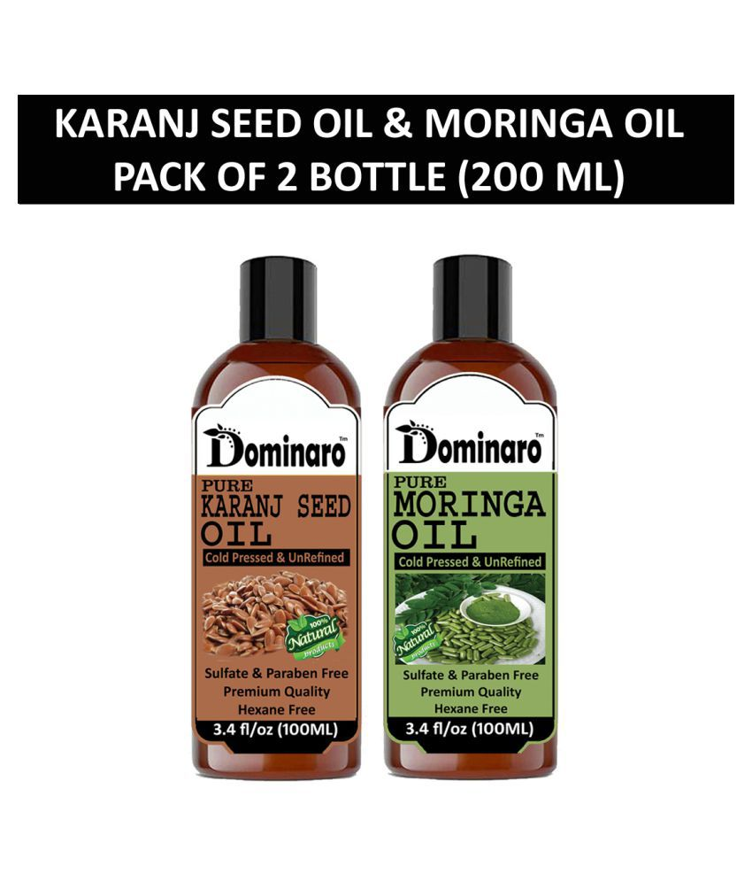 Dominaro 100% Pure Karanseed Oil Moringa Oil 200 mL Pack of 2