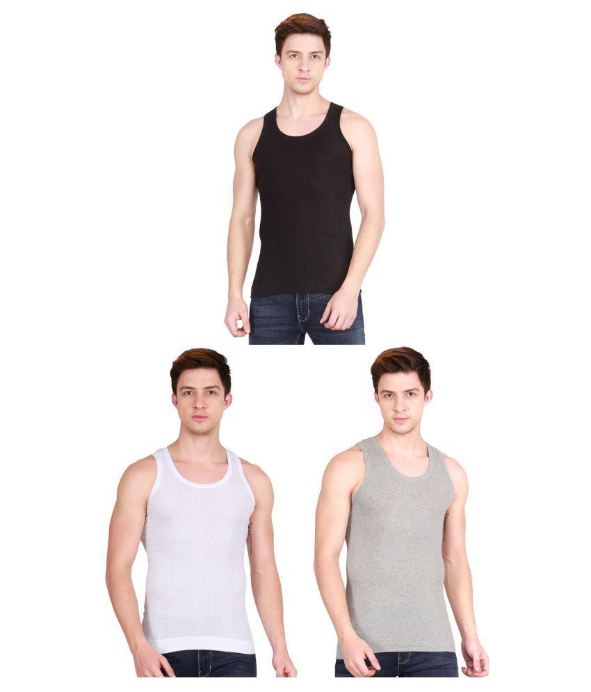 Lux Cozi Multi Sleeveless Vests Pack of 3