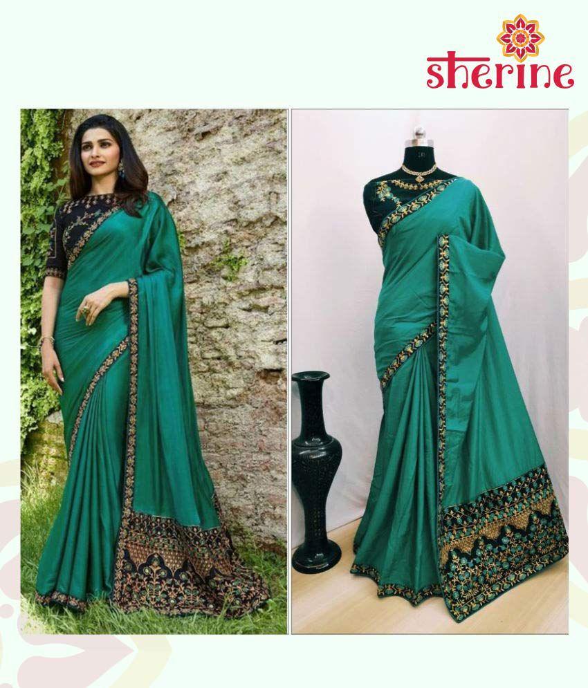 Sherine Green Silk Blends Saree