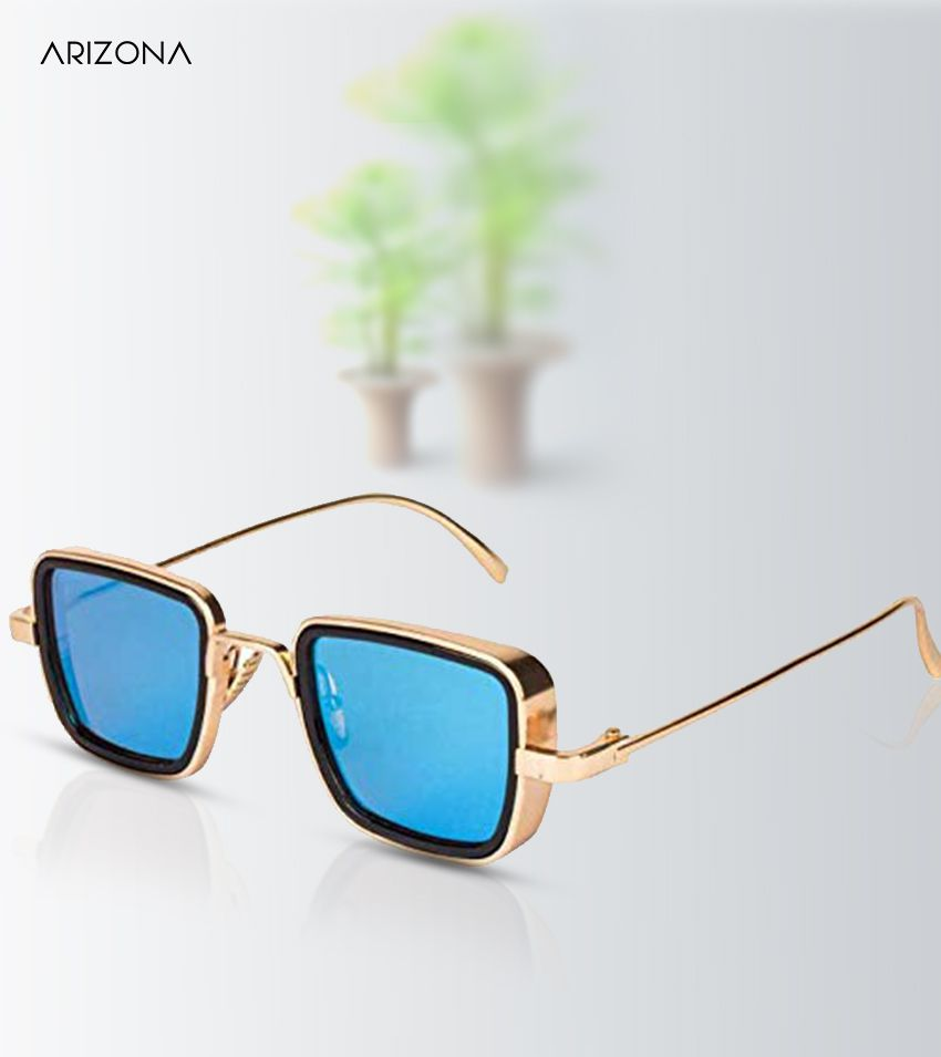 Arizona Sunglasses - Kabir Singh Blue Mirrored Polycarbonate lens Metal Frame for Men and women 4017